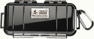 New Pelican ™ 1030 Solid Black Micro Case with Free engraved nameplate