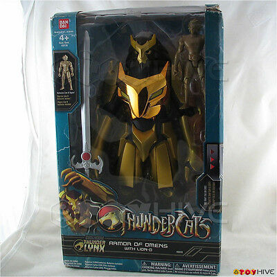 """Thundercats 12"""" Armor of Omens Figure with Lion-O  and Sword Figure - worn box"""