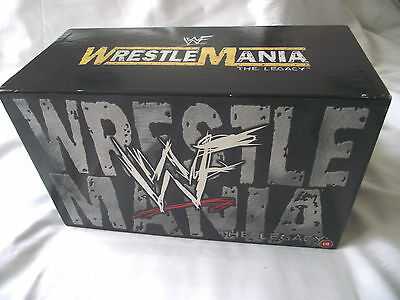 Wwf Wrestlemania The Legacy /15 Video Boxset  Very Rare / In Excellent Condition