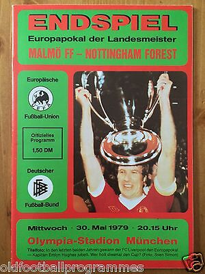 1979 European Cup Final Programme *(Malmo Ff V Nottingham Forest)* (30/05/1979)