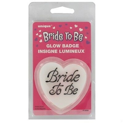 Bride to Be Party Favour - Glow Heart Badge Pk1