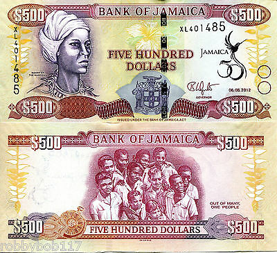 JAMAICA 500 Dollars Banknote World Money Currency BILL p91 Commemorative Note
