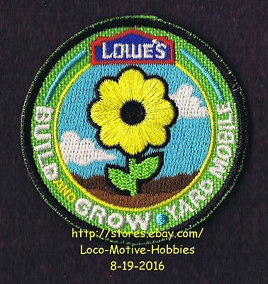 LMH PATCH Badge  YARD MOBILE Flower LOWES Build Grow Project Series Kids Flowers