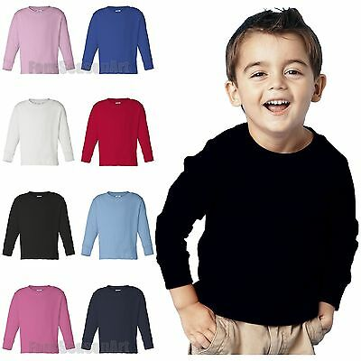 Rabbit Skins Toddler Long Sleeve T Shirt 2T 3T 4T 5/6 Boys Girls Tee 3311