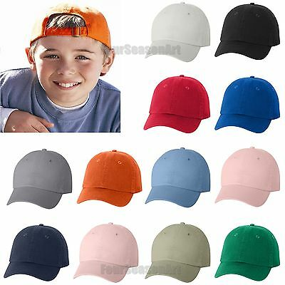 Valucap YOUTH Bio-Washed Unstructured Cap 6-panel adjustable Hat VC300Y