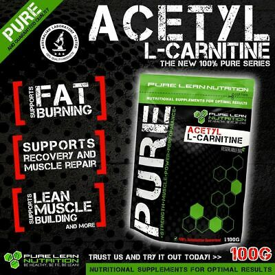 Acetyl L Carnitine Pure Powder 100G Alcar *  Premium Grade *Laboratory Tested