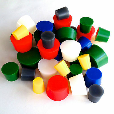 "XXLarge 3/4""-2"" High Temp Silicone Rubber Stopper Powder Coat Coating Plugs Kit"