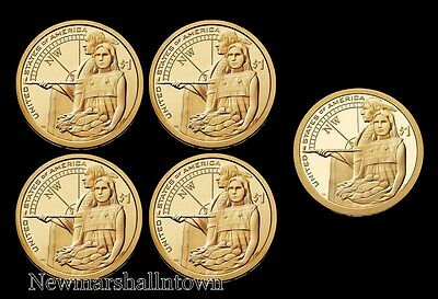 2014 P+D+S Native American Sacagawea Set ~ Proof & PD Pos AB from US Mint Rolls