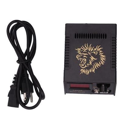 New LCD Digital Tattoo Power Supply Machine And Power Cable Black Model D50021