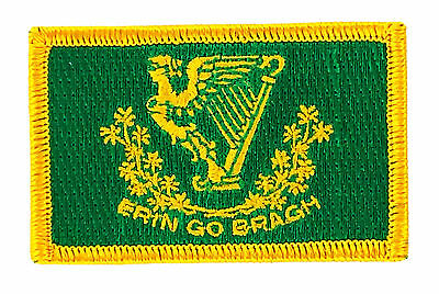 Flag Patch Patches Erin Go Bragh Irish Ireland Iron On Country Embroidered World