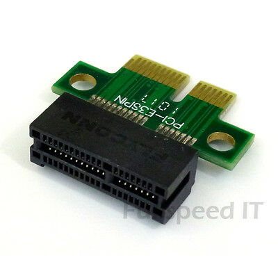 x1 Single Slot Vertical PCI Express Riser Card - Lifts PCIe Card in Slot