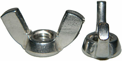 1/4-28 Wing Nuts Stainless Steel Grade 18-8 Quantity 25