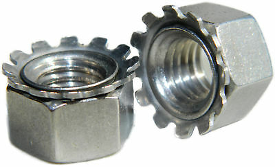 Stainless Steel Keps K Lock Nut UNC 3//8-16 Qty 25