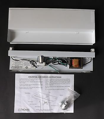 "Lot of 10 Thomas Lighting 12 1/4"" Low Profile Fluorescent Undercabinet FL 108-8"