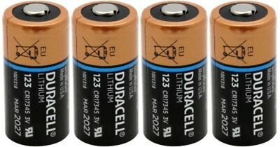 4 x Duracell DL123A Lithium CR123A Batteries