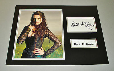 Katie McGrath Signed Photo 12x16 Merlin Autograph Memorabilia Display + COA