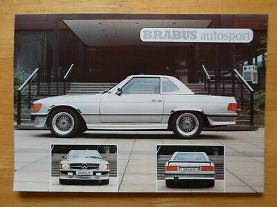 MERCEDES-BENZ BRABUS SL & SLC Coupe & Roadster orig 1985 brochure - R107 Series