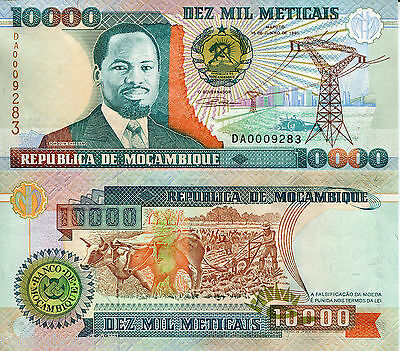MOZAMBIQUE 10000 Meticais Banknote World Paper Money UNC Currency Pick p-137