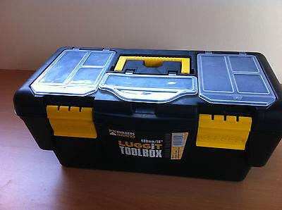 """Plastic Lockable Tool Box Case With Tray DIY Storage 10"""" 12"""" 13"""" 16"""" 19"""" Or 23"""""""