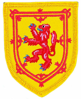 FLAG PATCH PATCHES SCOTLAND  coat of arms  IRON ON EMBROIDERED EMBLEM