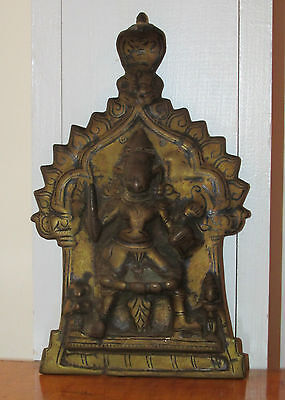Early Antique Oriental South East Asian Bronze Religious Plaque