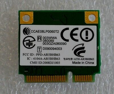 NEW Atheros AR5BHB63 b/g WLAN Wireless Mini Half Height PCIe Card,