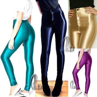Sexy American Style Apparel Shiny Disco Pant Rockabilly Leggings AU SELLER P019