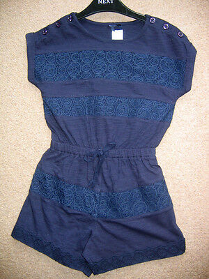 Girls NEW Ex store Next Lace Trim Playsuit, All-in-One, Jumpsuit - Ages 3 5 7y