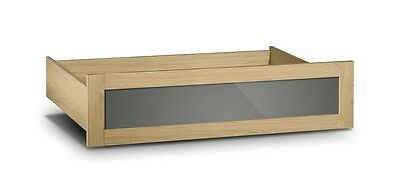 Julian Bowen Strada underbed drawer in Natural Oak and Grey Smoked Gloss