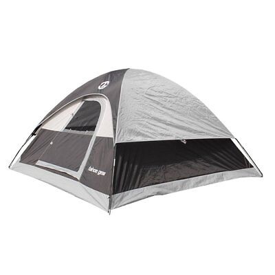 Tahoe Gear Powell 3-Person 3-Season Dome Camping Tent, Black/Grey   TGT-POWELL-3