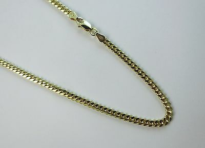 2mm, 3mm, 4mm Miami Curb Chain VERMEIL-14k gold over Sterling silver. 18-30 Inch