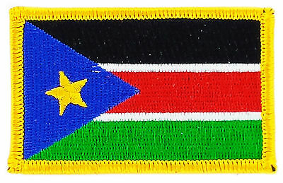 FLAG PATCH PATCHES SOUTH SUDAN SUDANESE IRON ON COUNTRY EMBROIDERED WORLD SMALL