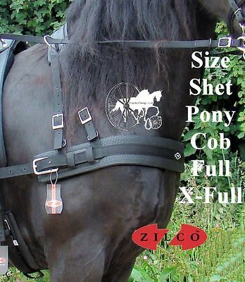 Carriage Driving Harness Breast Collar Set Zilco Tedex Shetland Pony Cob Full