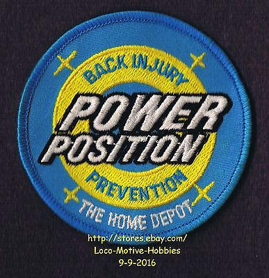 LMH PATCH Badge HOME DEPOT Award POWER POSITION Back Injury Prevention Clinic 3""