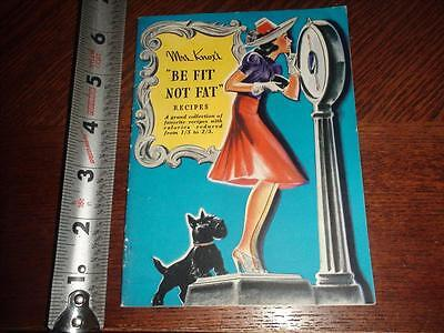 BS455 Vintage 1939 Art Deco Scottie Dog Knox Gelatin Recipe Booklet
