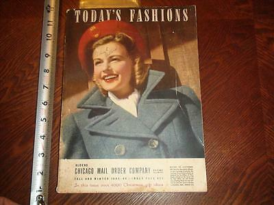 BS512 Vintage 1943 Todays Fashions Clothing Catalog Aldens Chicago Mail Order Co