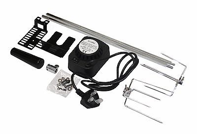 Bbq Barbecue Rotisserie Spit Universal Kit Gas Or Charcoal Battery Or Electric