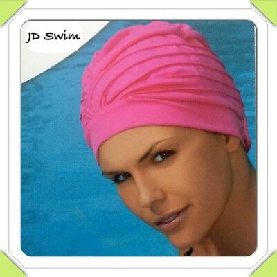 Ladies Swimming Hat/Cap/Turban with Adjustable Strap.   New By Fashy 3472