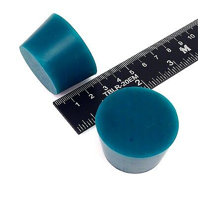 "(2) 1 5/16"" x 1 5/8"" #8 High Temp Silicone Rubber Plugs Powder Coating Paint"