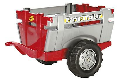 Rolly Toys - Red / Silver Farm Trailer Slat Design for Rolly Pedal Tractors