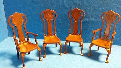 1/12 scale Dolls House Quality Furniture  Set of 4 Chairs  DHD06020