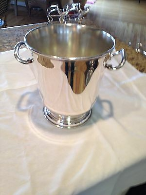 Christophle Silver Plate Hotel Line Wine Bucket