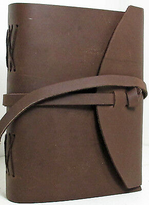 Handmade Paper Brown Luxury Leather 5 x 7 Paper Journal -  A5 Sketchbook