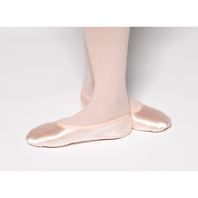 Pink satin full sole ballet shoes - children's and adult's sizes