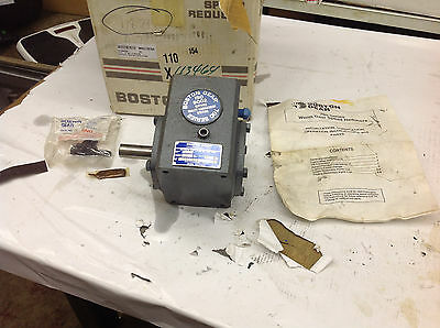 Boston Gear Reducer F71510B5J, 1.07 HP, Output 343 in lbs, 10:1 Ratio NT 38