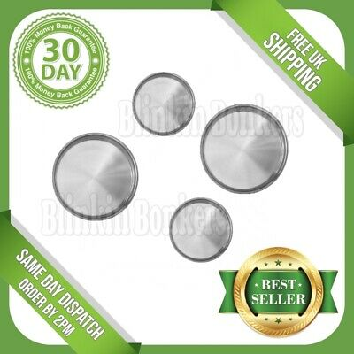 Hob Cover Set Of 4 Four Plain Metal Silver Chrome Electric Cooker Ring Lid 7B