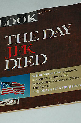 Look Magazine THE DAY JFK DIED February 7th 1967