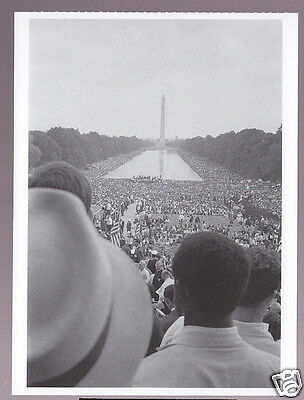 NATIONAL MALL PROTEST 1963 Jobs Freedom PHOTO POSTCARD