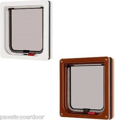 Cat Mate 304W 304B Lockable Cat Flap Pet Door Petmate White Brown Catflap