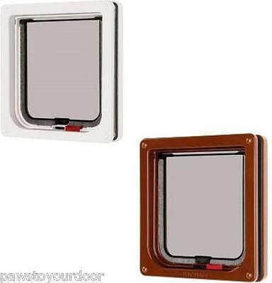 Petmate Cat Mate Cat Flap Pet Door 304W 304B Lockable White Brown Catflap